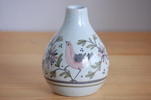 デンマークで見つけた陶器の一輪挿し(小鳥)の商品写真