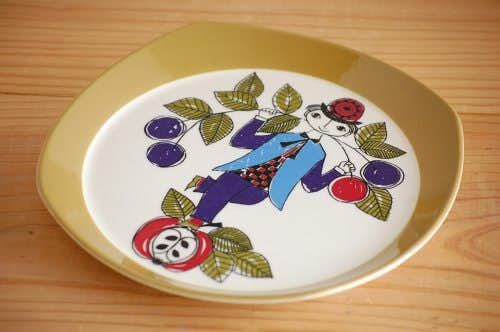 ノルウェー/FIGGJO/フィッギオ/プレート(林檎に乗った少年)の商品写真