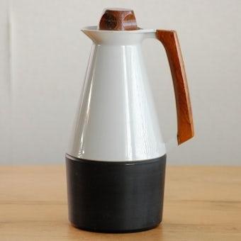 スウェーデンで見つけたプラスティック製ヴィンテージ魔法瓶(グレー)の商品写真