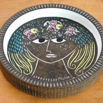 これはレア!!/Upsala Ekeby/ウプサラエクビイ/Mari Simmulson/マリ・シミュルソン/飾り皿(美しい女性)の商品写真