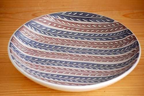 Upsala Ekeby/ウプサラ・エクビイ/陶器の大皿(草模様)の商品写真