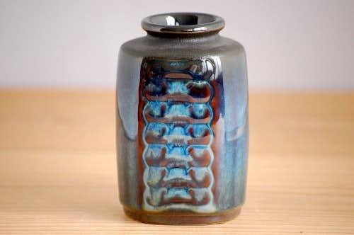 デンマーク/Soholm/スーホルム/陶器の花瓶(ブルー)の商品写真