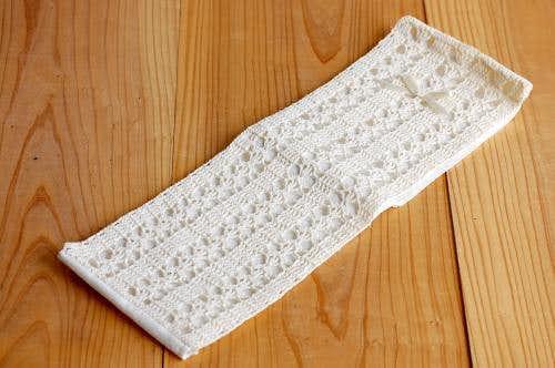 スウェーデンで見つけた手編みの収納ホルダー(ホワイト)の商品写真