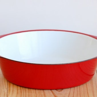デンマークで見つけた大きなオーブン皿(レッド)の商品写真
