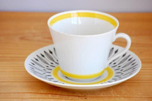 RORSTRAND/ロールストランド/イエローの縁取りが素敵なティーカップ&ソーサーの商品写真