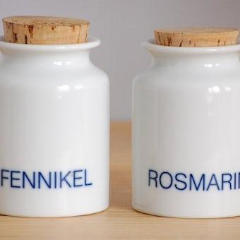 デンマークで見つけた陶器のスパイスポット2個セット(ホワイト)の商品写真
