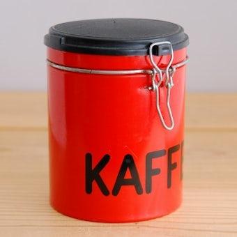 スウェーデンで見つけた古いブリキのコーヒー缶の商品写真