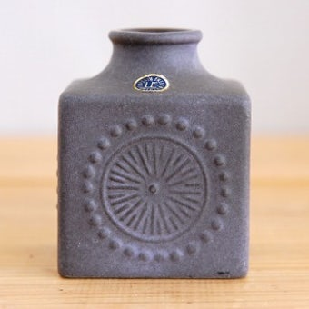 Upsala Ekeby/ウプサラエクビイ/キューブ型の花瓶(パープル) 小の商品写真
