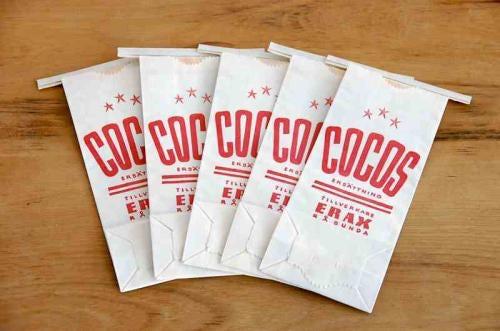 スウェーデンで見つけたお菓子の量り用の紙袋5枚セットの商品写真