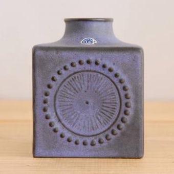 Upsala Ekeby/ウプサラエクビイ/キューブ型の花瓶(パープル) 大の商品写真