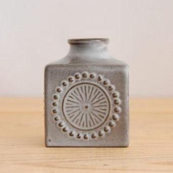Upsala Ekeby/ウプサラエクビイ/キューブ型の花瓶(グレー) 小の商品写真