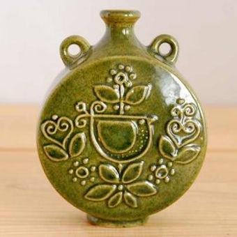 Upsala Ekeby/ウプサラエクビイ/陶器の花瓶(小)モスグリーンの商品写真