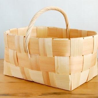 【取扱い終了】フィンランド/ハンドメイド/モミの木のバスケット(LL)の商品写真