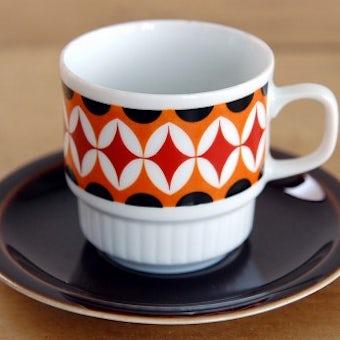 スウェーデンで見つけたモダンな雰囲気のコーヒーカップ&ソーサーの商品写真
