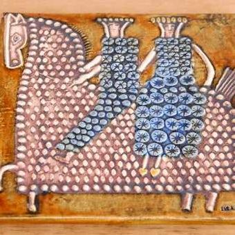 これはレア!!/GUSTAVSBERG/グスタフスベリ/リサ・ラーソン/陶板の壁掛け(馬)の商品写真