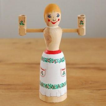 スウェーデンで見つけた木製キャンドルスタンドの商品写真