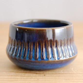 GEFLE(Upsala Ekeby)/ゲフル/KOSMOS/シュガーボウル(艶ありブルー)の商品写真