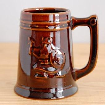 GEFLE/ゲフル/KASKAD/カスケード/バイキング模様の陶器のビールジョッキの商品写真