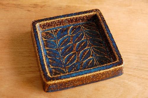 デンマーク/SOHOLM/スーホルム/陶器の小皿(スクエア)の商品写真