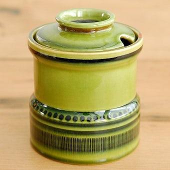 Upsala Ekeby/ウプサラエクビイ/陶器のキャニスター(グリーン)の商品写真