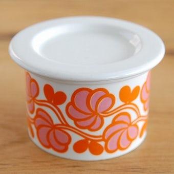 ARABIA/アラビア/POMONA/ポモナ/ジャムポット(オレンジお花模様)の商品写真
