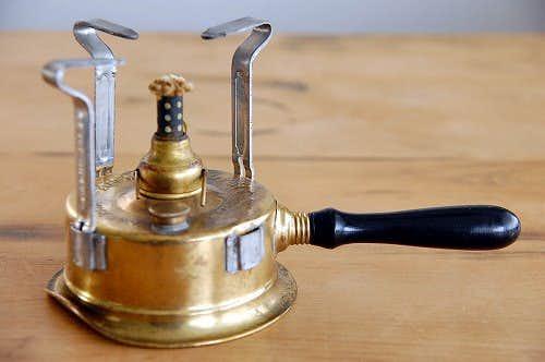 スウェーデンで見つけた古いアルコールランプの商品写真