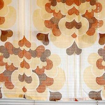 スウェーデンで見つけたヴィンテージカーテン2枚セット(ブラウン)の商品写真