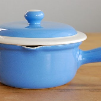 Upsala Ekeby(Gefle)/ウプサラ・エクビイ(ゲフル)/陶器の片手鍋(水色)の商品写真