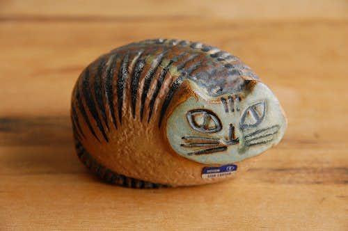 GUSTAVSBERG/グスタフスベリ/Lisa Lason/リサ・ラーソン/LILLA ZOO/陶器のオブジェ(猫)の商品写真