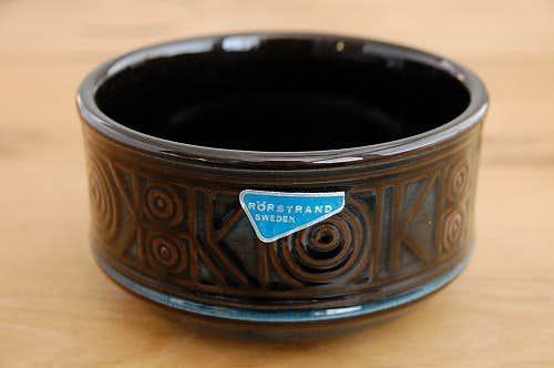RORSTRAND/ロールストランド/陶器のボウル(深緑色)の商品写真