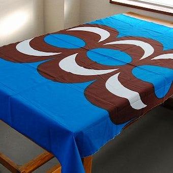 スウェーデンで見つけたテキスタイル(ブルー)の商品写真