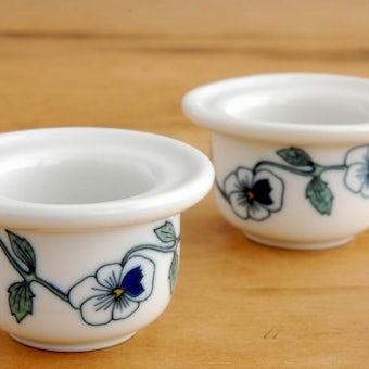 RORSTRAND/ロールストランド/パンジー模様のエッグカップ2個セットの商品写真