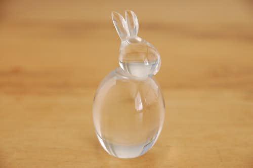 スウェーデンで見つけたガラスのオブジェ(うさぎ)の商品写真
