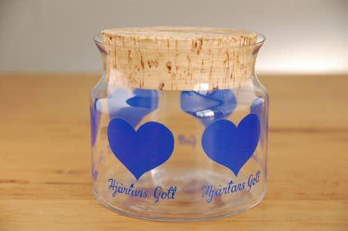 スウェーデンで見つけた陶器のガラスキャニスターの商品写真