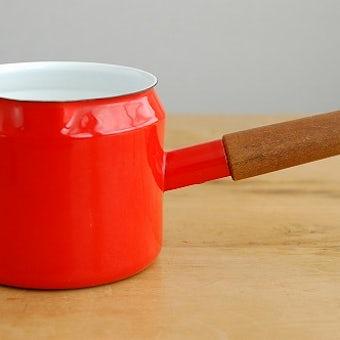 FINEL/フィネル/ホーロー製片手鍋(レッド)の商品写真