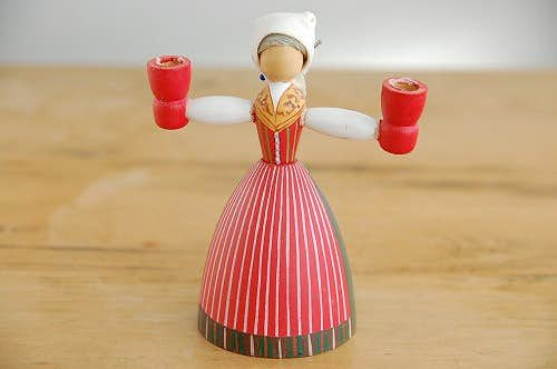 スウェーデンで見つけた木製キャンドルスタンド(1)の商品写真