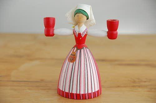 スウェーデンで見つけた木製キャンドルスタンド(2)の商品写真