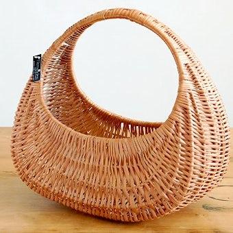 【取扱い終了】スウェーデン/ハンドメイド/柳のハンドルバスケット(L)の商品写真