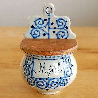 RORSTRAND/ロールストランド/Marianne Westman/陶器の壁掛けスパイスラック(小麦粉)の商品写真