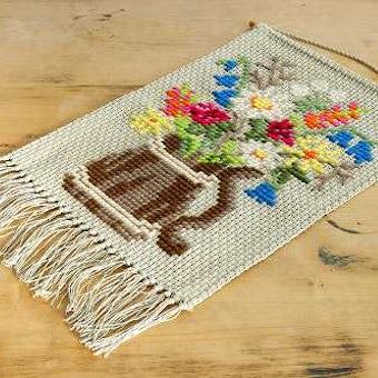 スウェーデンで見つけたタペストリー(お花)の商品写真