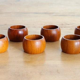 スウェーデンで見つけた木製ナプキンリング6個セットの商品写真
