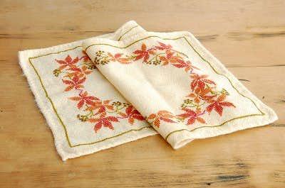スウェーデンで見つけた毛織のテーブルランナー(センタークロス)の商品写真