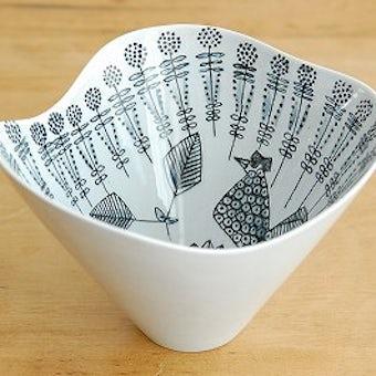 これはレア!RORSTRAND/ロールストランド/小鳥の模様が描かれた美しいボウルの商品写真