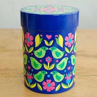 デンマーク/IRA社製/小鳥柄が可愛いブリキ缶の商品写真