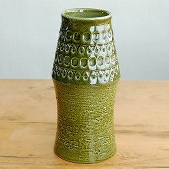 Upsala Ekeby/ウプサラエクビイ/Mari Simmulson/大きな陶器の花瓶(グリーン)の商品写真