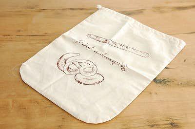 スウェーデンで見つけたパンを保存するための巾着袋の商品写真