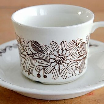 ARABIA/アラビア/Finnish Flint/ELINA/コーヒーカップ&ソーサー(少々難あり)の商品写真