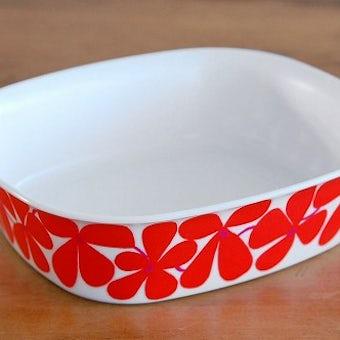 GUSTAVSBERG/グスタフスベリ/ORNAMIN/耐熱プラスティック製の深皿(花柄)の商品写真