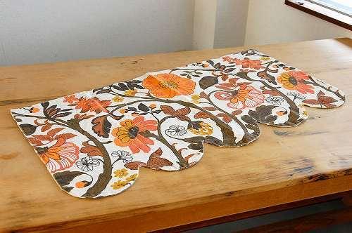 スウェーデンで見つけたお花模様のカフェカーテンの商品写真