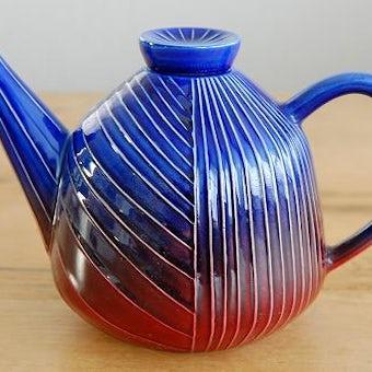 RORSTRAND/ロールストランド/陶器のティーポット(ブルー)の商品写真